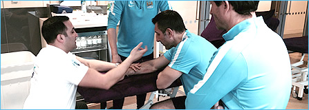 OMT Training Medical Acupuncture at Manchester City FC